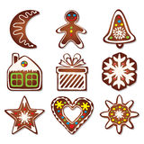 Vector gingerbread cookies Royalty Free Stock Photo