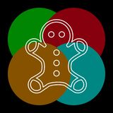 Vector gingerbread man icon. Web Icon. royalty free illustration