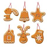Christmas Gingerbread Set Royalty Free Stock Photos