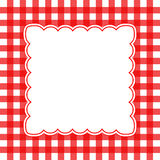 Vector gingham background. Vector illustration of red and white gingham concept background Stock Images
