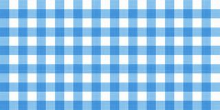 Free Vector Gingham Striped Checkered Blanket Tablecloth. Seamless White Blue Table Cloth Napkin Pattern Background With Natural Textil Stock Photography - 110392382