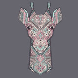 Vector giraffe with ethnic ornaments Royalty Free Stock Photo