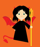 Vector girl. Cartoon girl in Halloween costume Royalty Free Stock Photography