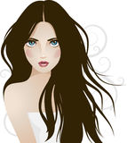 Vector girl Royalty Free Stock Photos