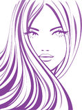 Vector girl royalty free illustration