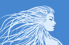 Vector  girl Royalty Free Stock Images