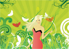 Vector girl Stock Images