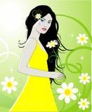 Vector girl vector illustration