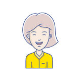 Vector girl avatar Royalty Free Stock Image