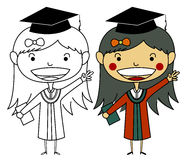 Vector of Girl Graduate Royalty Free Stock Photos