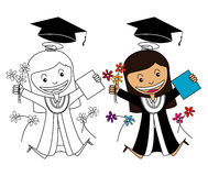 Vector of Girl Graduate Royalty Free Stock Photo