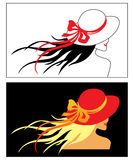 Vector girl with hat Royalty Free Stock Image