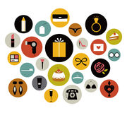 Vector girl icon set Stock Images