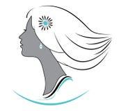Vector girl logo Stock Photography
