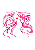 Vector girl portrait beauty hair beautiful Royalty Free Stock Photography