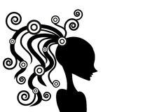 Vector girl silhouette Royalty Free Stock Photo