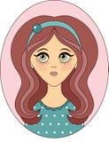 Vector girl. For your design Stock Photos