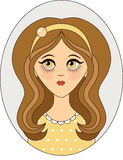 Vector girl Royalty Free Stock Photo