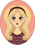 Vector girl Royalty Free Stock Photography