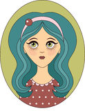 Vector girl Stock Photography