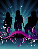 Vector girls composition Royalty Free Stock Image