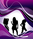 Vector girls composition Stock Photo