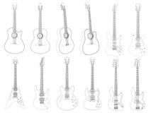Vector gitaren Royalty-vrije Stock Foto's
