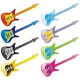 Vector Gitarrenikonen Lizenzfreies Stockfoto