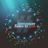 Vector Giveaway Button. Illustration of Vector Giveaway Button. Enter to Win Prize Template. Realistic Button with Confetti Stock Photography