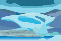 Vector of glacier with natural texture Royalty Free Stock Image