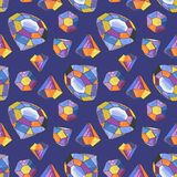 Vector glamour diamond background Stock Photos
