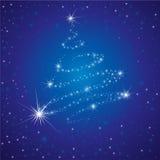 Vector glanzende achtergrond met Kerstboom Royalty-vrije Stock Foto