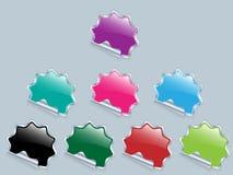 Vector glanzende stickersnota. Stock Afbeelding