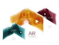 Vector glass arrows. Glass arrows. Vector info banner design Stock Photo