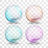 Vector glass ball with air bubbles inside Royalty Free Stock Photos