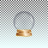 Vector glass ball on transperent background Stock Photography