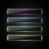 Vector glass banners Stock Photo