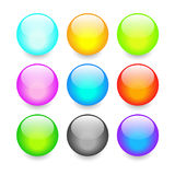 Vector glass buttons Stock Images