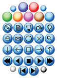 Vector glass buttons Royalty Free Stock Image