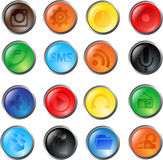 Vector glass buttons Royalty Free Stock Photography