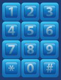 Vector glass buttons with numbers Stock Images