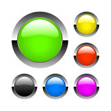 Vector glass buttons Royalty Free Stock Photo