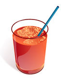 Vector glass of carrot juice stock images