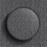 Vector glass circle on silver sequins background. Stock Photography