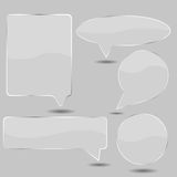 Vector glass cpeech for your design Royalty Free Stock Image