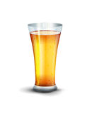 Vector glass with drink on the white background Stock Image