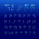 Vector glass font Royalty Free Stock Photography