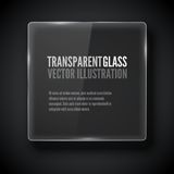 Vector glass frame. Stock Photo