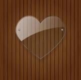 Vector glass heart. Stock Photos