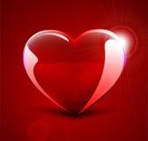 Vector glass heart Stock Image